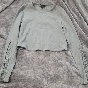 NWOT Topshop grey crop top